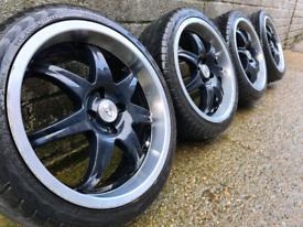 "17"" Wolfrace Alloy wheels 4x100 Astra Corsa Civic Clio Mx5 Swift Mini"