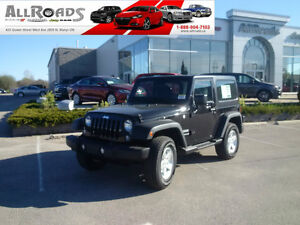 New 2016 Jeep Wrangler Sport with 3 piece Hardtop & Air!