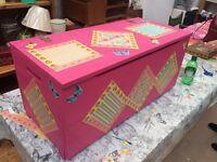 Wooden blanket/storage box