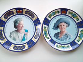 Pr of Vintage Royal Commemorative Plates mint cond! certificates/boxes