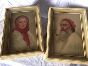 Very Cool - Peasant man and woman of Capri - Sydney Bell prints London Ontario image 1