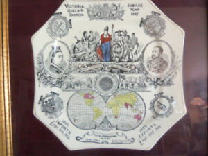Queen Victoria and Benjamin Disraeli 1887 collector plates
