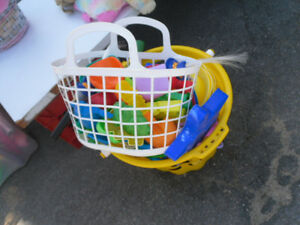 2 BASKETS OF BEACH TOYS $5 FOR THE WORKS