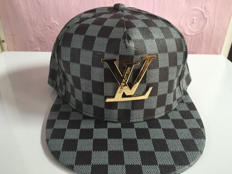 Louis Vuitton Black Snapback With Gold Logo Brand New