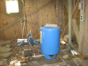 water pump and pressure tank