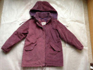 Andy Johns girl's zip up hooded winter coat / jacket, Size 10