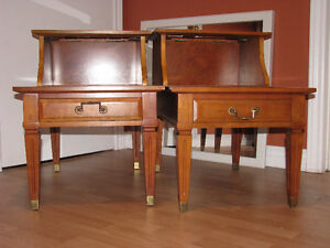 2 SOLID CHERRY FORMAL END TABLES
