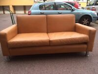 Real leather sofa free London delivery