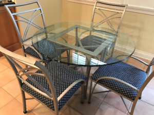 Glass Dining Table & 4 Chairs