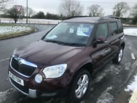 Skoda Yeti 2.0TDI CR 4x4 59000 miles fsh 2 lady owners very clean example