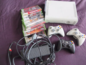 !!!!!! XBOX 360 With Games And 3 Controllers and guitar !!!!!!!