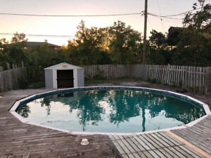 Above ground swimming pool incl filter pump for sale $325 obo