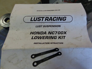 Honda NC700X  Lust Racing lowering kit  recycledgear.ca Kawartha Lakes Peterborough Area image 3