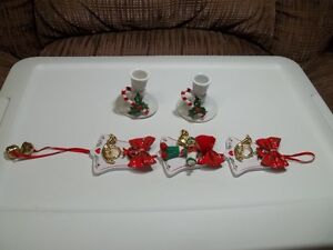 Christmas Candle Holders And Decorations.