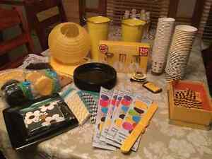 Yellow and Black / Bumble Bee Theme Party Supplies / Decorations
