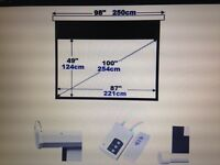 "Brand new 100"" electric projection screen 16:9"
