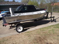 SELLING my 2006 boat,+1988 9.9 motor,and trailer-Only $2500