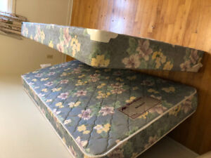 Bedframe mattress and box for kids- reduced