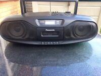 Panasonic portable CD radio & cassette player.