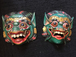 indionesian masks nice! Hand carved