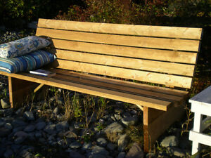 Environment Friendly Wood Benches