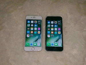 Space Grey iPhone 6s 16gb and Gold iPhone 6 16gb