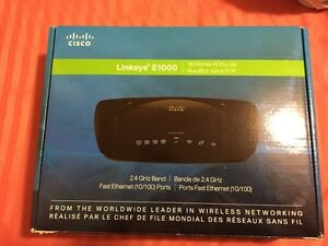 CISCO LINKSYS E1000 Wireless-N Router