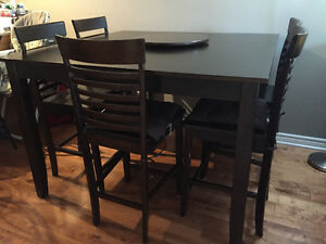 Must be sold - wooden dining table with chairs