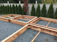 CEDAR PLANTER BOXES / RAISED BEDS