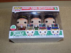 FUNKO POP FREDDY FUNKO NUTCRACKERS, FUNKO SHOP EXCLUSIVE 3-PACK