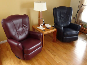 Genuine leather chairs