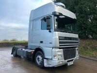 2004 DAF XF 95.430 4x2 low ride superspace cab LHD tractor unit manual gearbox for sale  Halifax, West Yorkshire