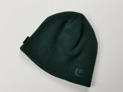 Burton Beanie Forest Green Winter Hat Cap Snowboarding Ski 100% Acrylic Unisex