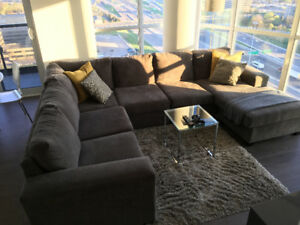 Modern Sectional Grey Sofa