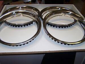 "Set of 4 Wheel Rim Rings 15"""