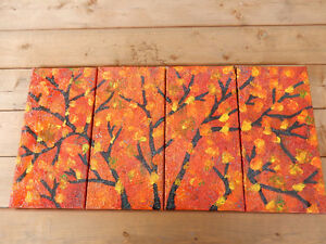 4 paintings in one (autumn leaves) by J-F