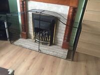 Child safety fireplace guard
