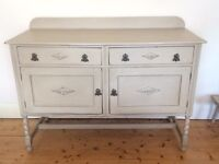 Shabby Chic Oak sideboard painted with Annie Sloan
