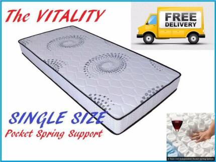 DELIVERED FREE SINGLE Size Bed Mattress Pocket Spring Mattress