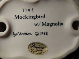"Andrea By Sadek Collectors' Item ""Mockingbird With Magnolia"" London Ontario image 5"
