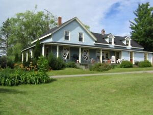 Century farmhouse 10 min outside of Wolfville on 20 acres