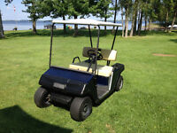 E-Z-GO Gas Golf Cart with Clubs