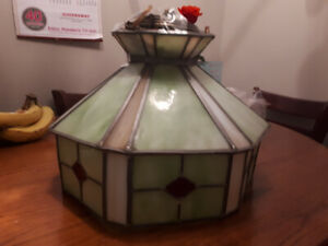 Handmade Stained Glass hanging light fixture