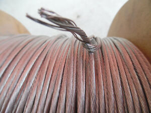 "1 x 19  Stainless Steel 1/8"" Dia, Wire  Cable 1000ft new Kitchener / Waterloo Kitchener Area image 3"