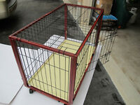 Near-new condition dog crate for sale .