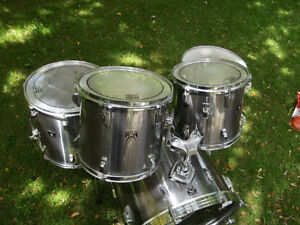 TAMA VINTAGE / JAPAN 5 PC SHELLS DEEP SNARE SILVER CHROME MIST