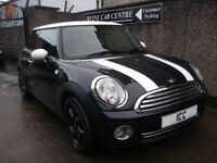 08 58 MINI 1.6 COOPER CHILLI SPORT 3DR BLACK+WHITE ROOF+LEATHER=BLUETOOTH+A/C