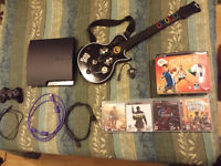 PS3 slim 320GB Move kit-guitar hero-sport active-blu ray