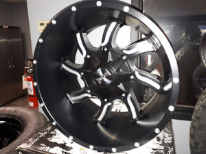 4x 20x12 CALI OFF ROAD RIMS ..  DUEL 8 BOLT PATTERN  $1400