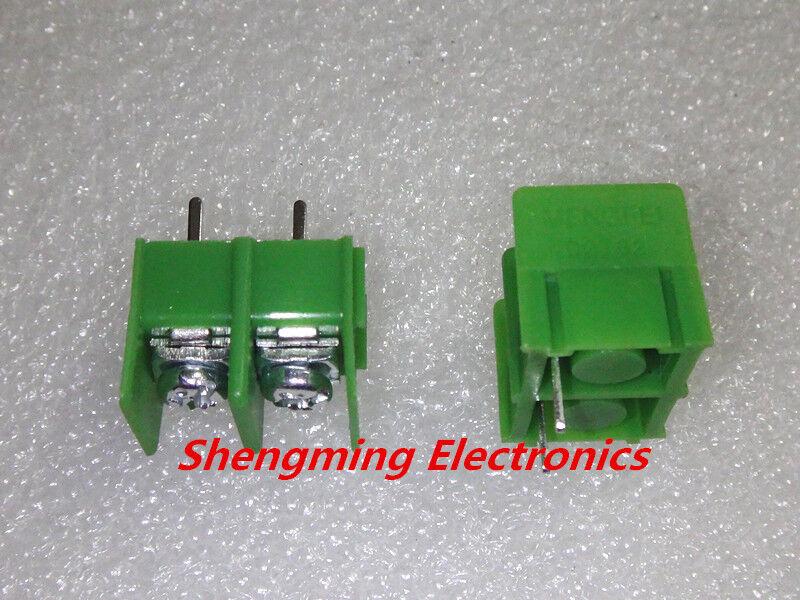 100pcs KF7.62-2P MG7.62 2pin 7.62mm Pitch Screw Terminal Block Connector